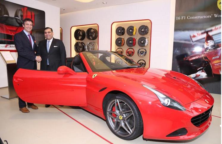 Ferrari Inaugurates Its New Showroom In New Delhi Auto News Et Auto