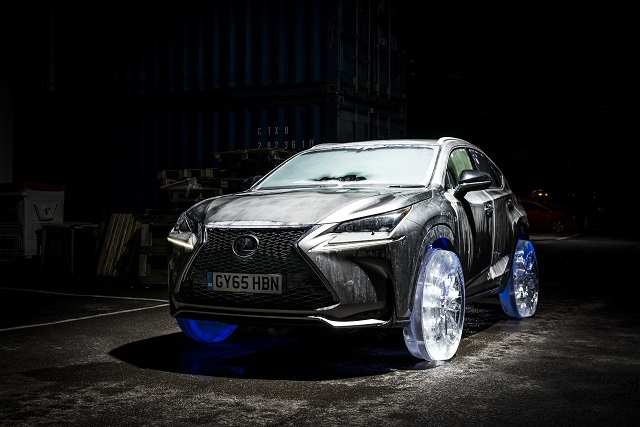Watch This Lexus Nx Roll Out On Wheels Made Of Ice