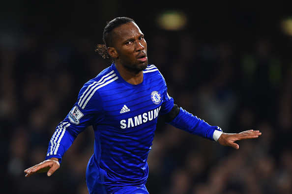 22727cb77 Footballer Didier Drogba playing for Chelsea in 2014. Image credit  Getty