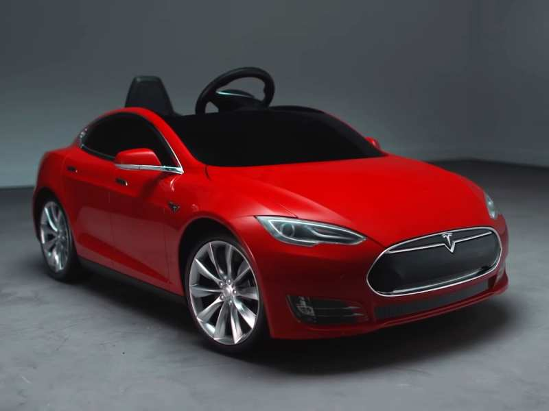 Now You Can A Mini Tesla Model S Version For Your Kids Also