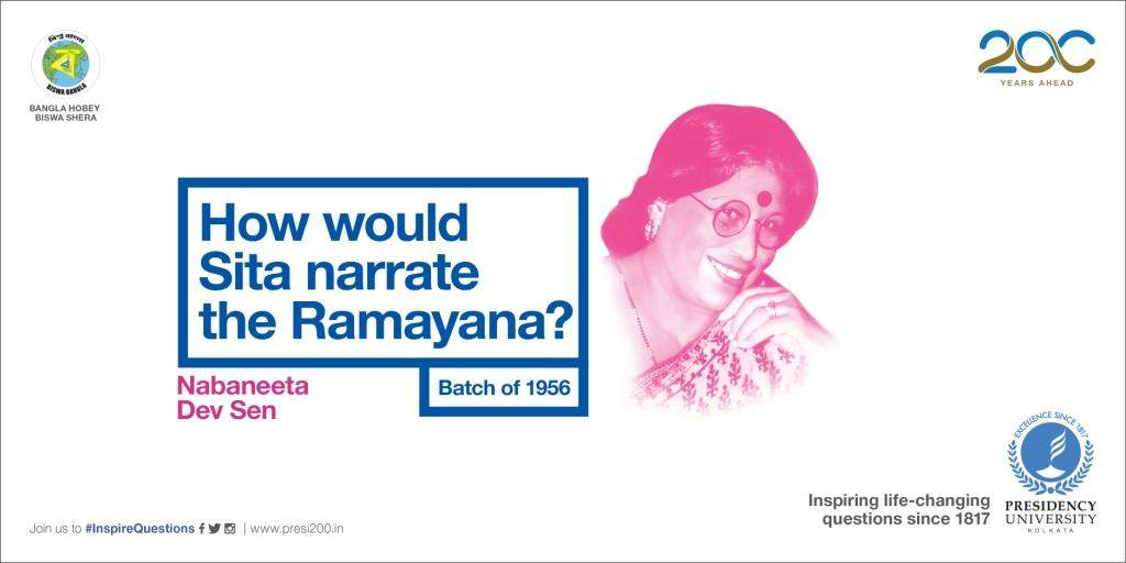 The queen of words Nabaneeta Dev Sen.