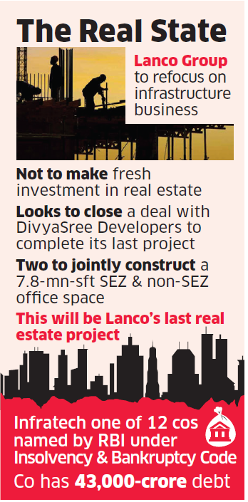 Lanco to exit real estate business to focus on infra