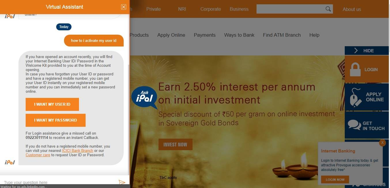 icici bank: ICICI Bank's AI chatbot iPal empowers customers