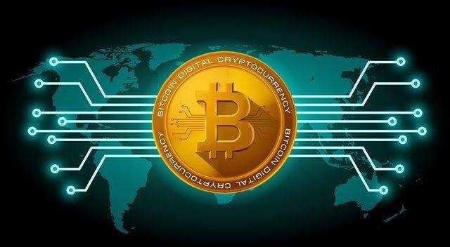 Dinheiro digital bitcoin wallet