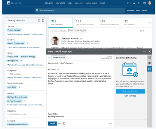 LinkedIn's Scheduler to automate interview scheduling