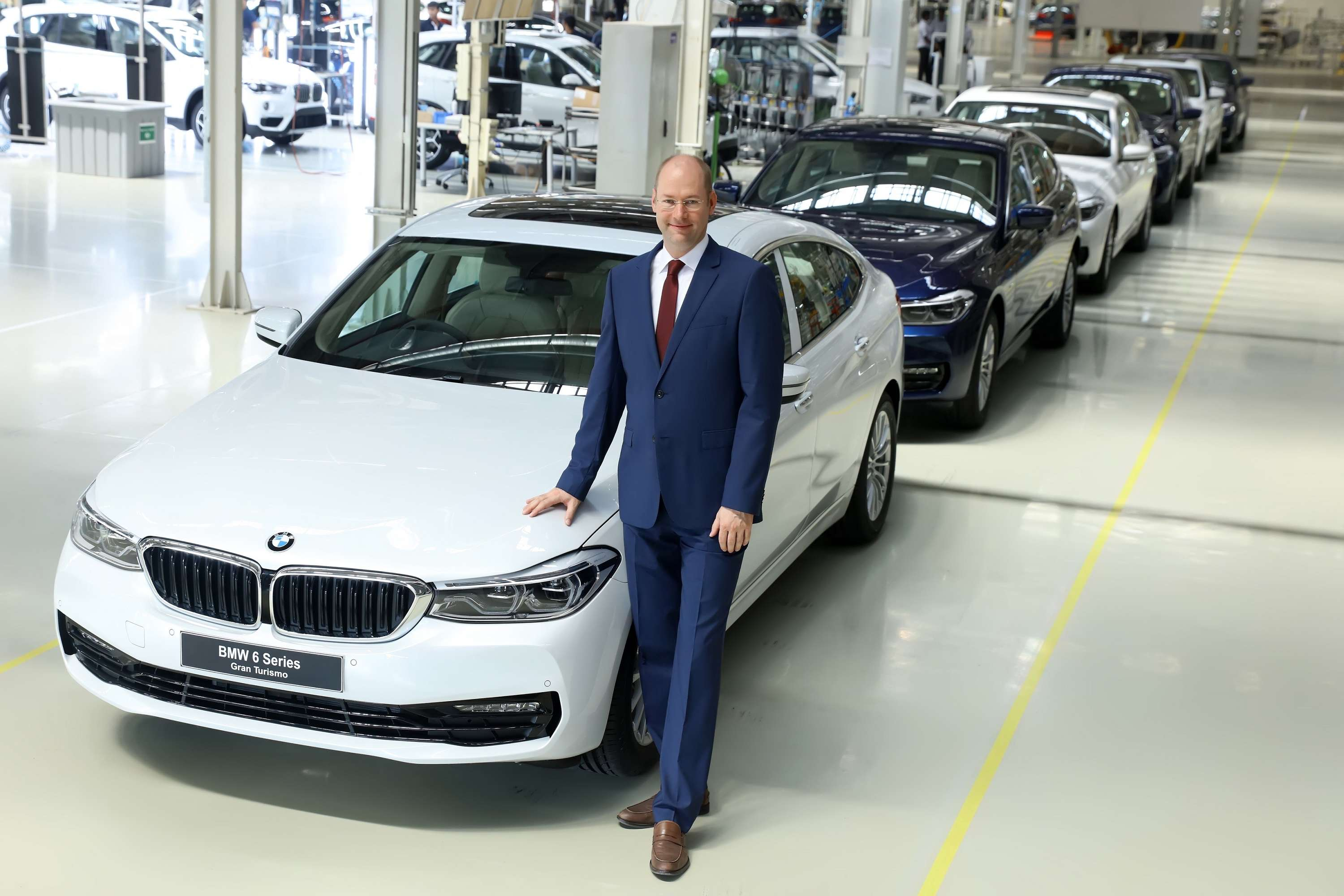 chennai plant: bmw rolls out first-ever 6 series gran turismo from