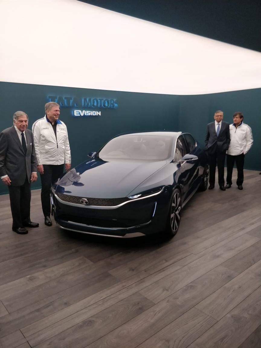 Tata Motors Tata Motors Unveils All Electric E Vision Saloon At