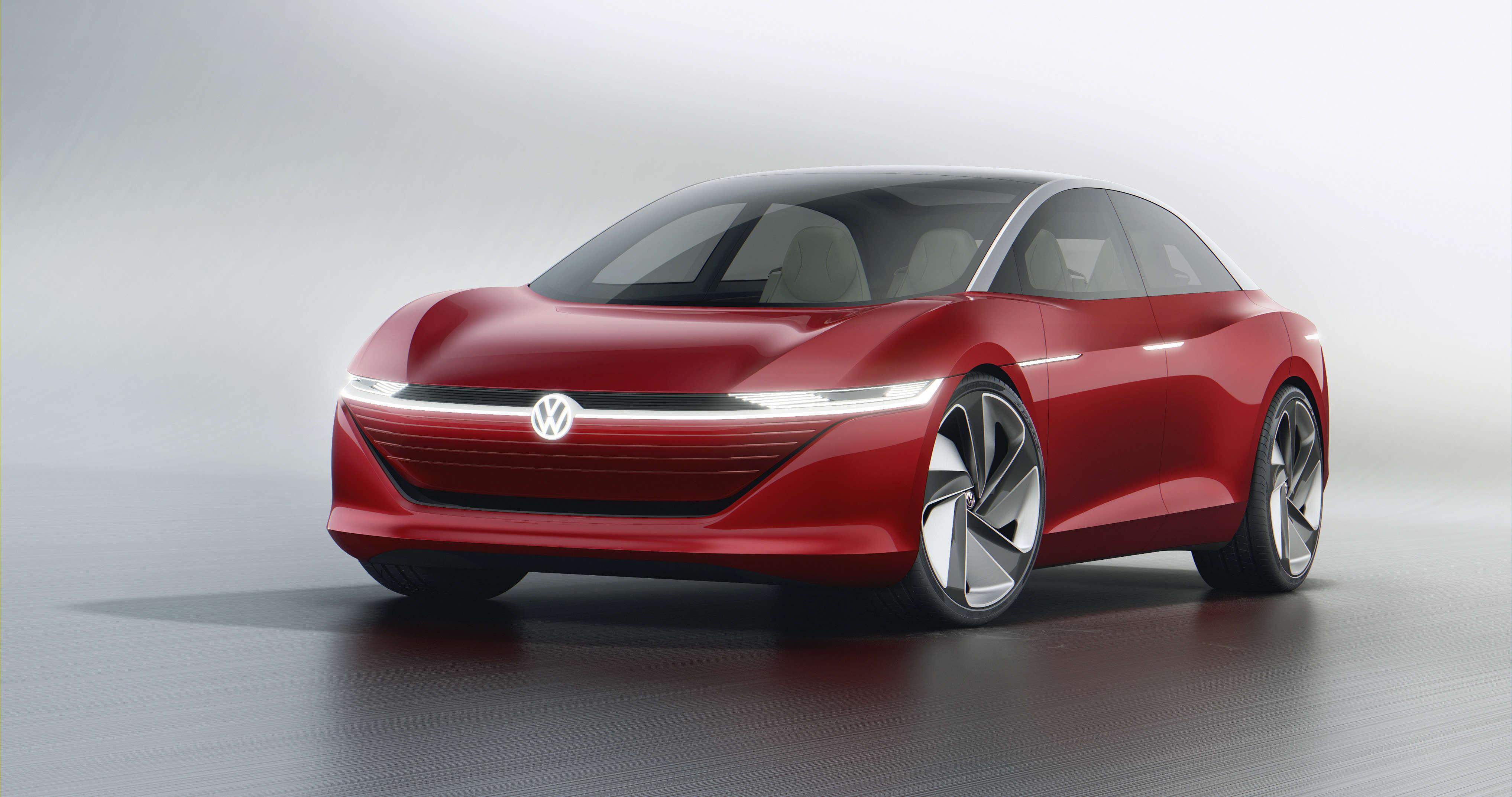 volkswagen: volkswagen world premieres id vizzion concept car, auto