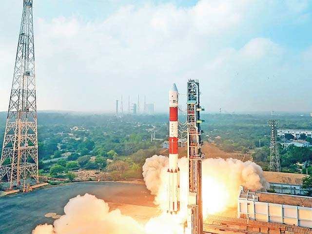 The workhorse, PSLV, injected the satellite into orbit 19 minutes after lift-off from the Sathish Dhawan Space Centre.