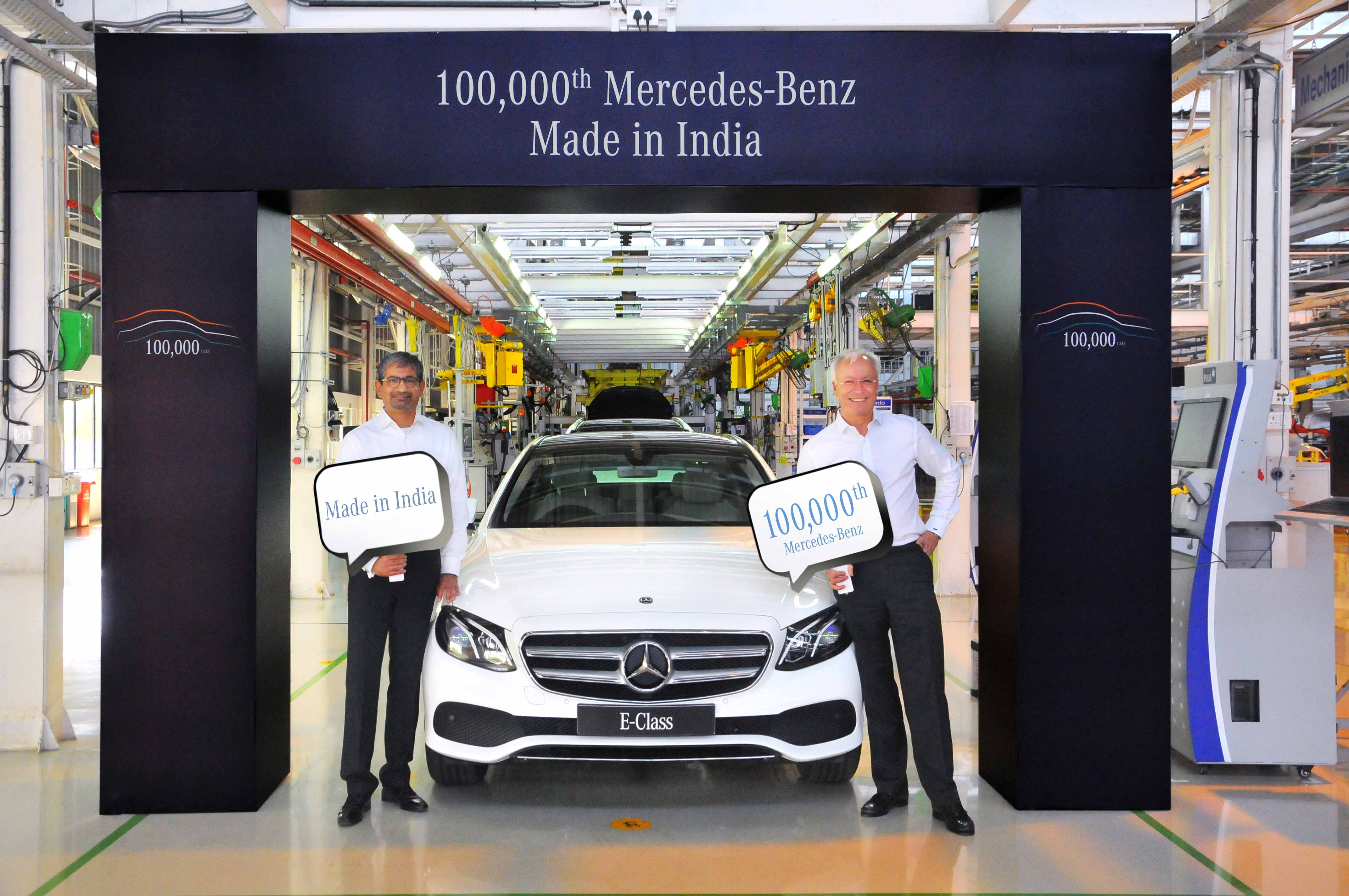 Mercedes Benz India Mercedes Clocks Production Of 1 Lakh Cars In