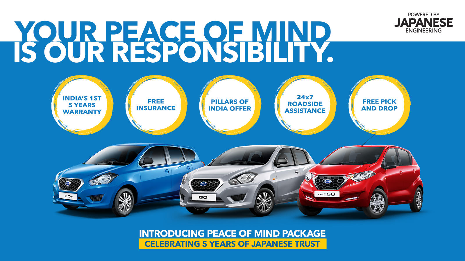 Nissan Motor Company Datsun Introduces 5 Years Unlimited Km