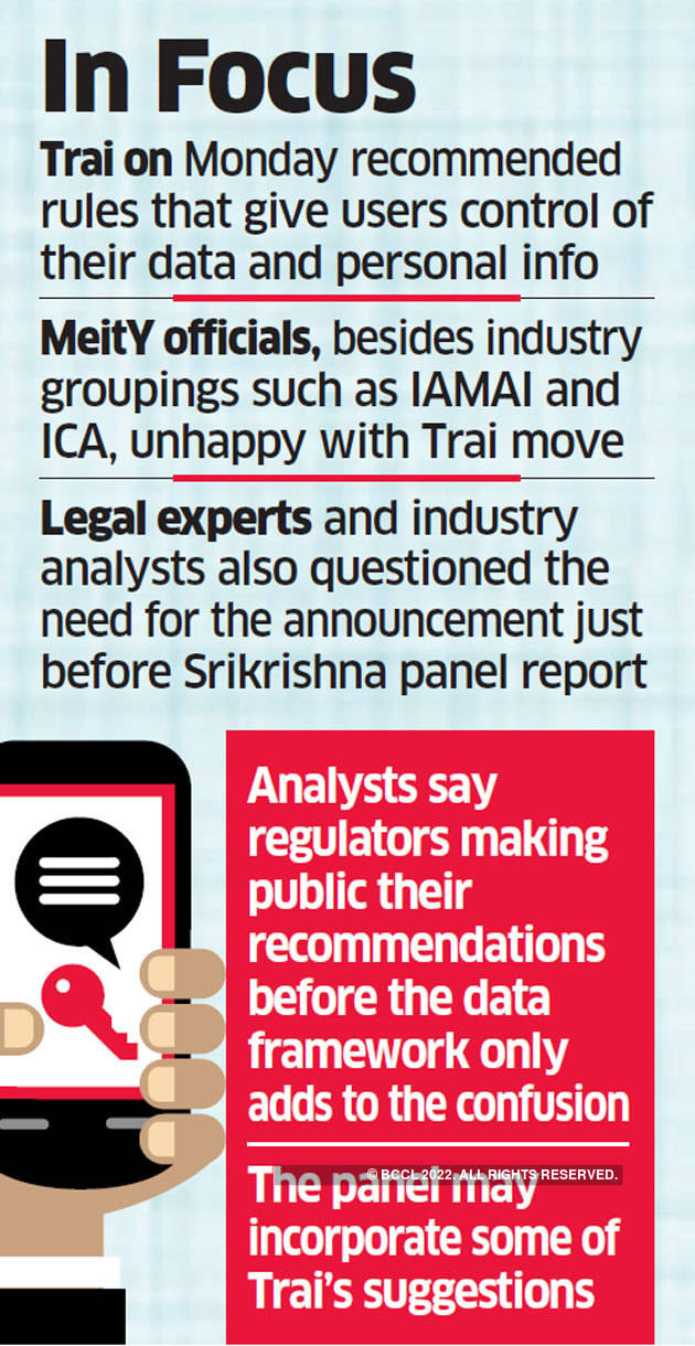 Srikrishna Committee upset at timing of Trai's data privacy recommendations