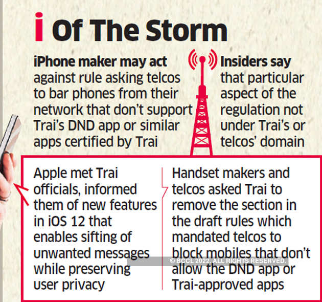 Apple weighs legal action against Trai bid to block phones