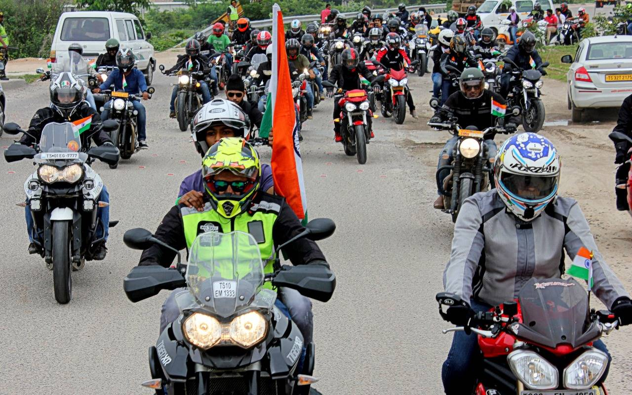 """""""Like every year, Triumph enthusiasts have shown great amount of support for this noble cause"""""""