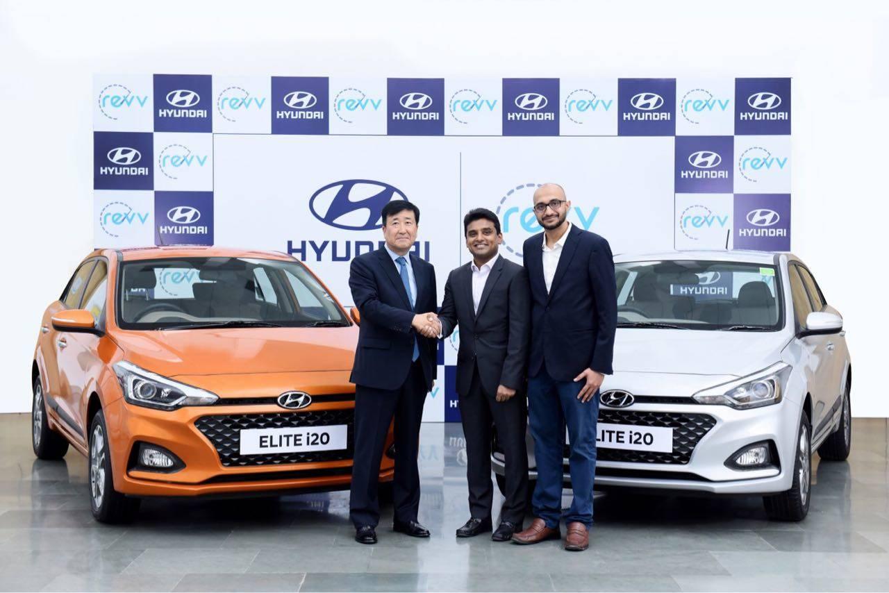 hyundai india: hyundai motor ties-up with car sharing firm revv