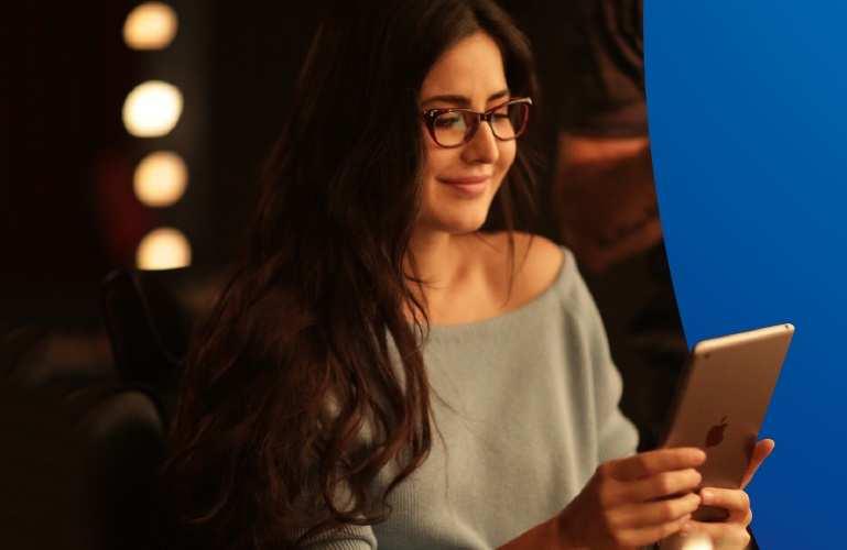 a370e5c5a0 Katrina Kaif launches  Lenskart Blu  lenses in the brand s new TVC ...