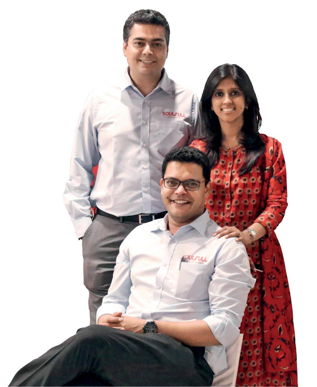 Soulfull's founders: Amith Sebastian, Rasika Iyer, and Prashant Parameswaran