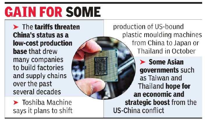 Trade war: Asian companies shift base from China