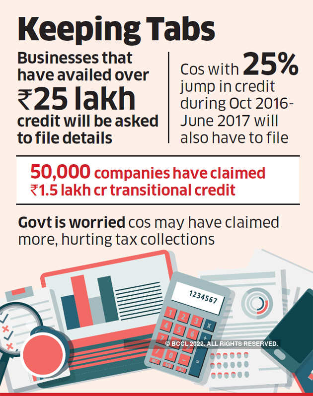 Companies may have to show ledgers for claiming GST credit of over Rs 25 lakh