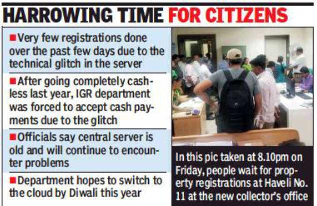 Technical glitch hits property registrations in Maharashtra