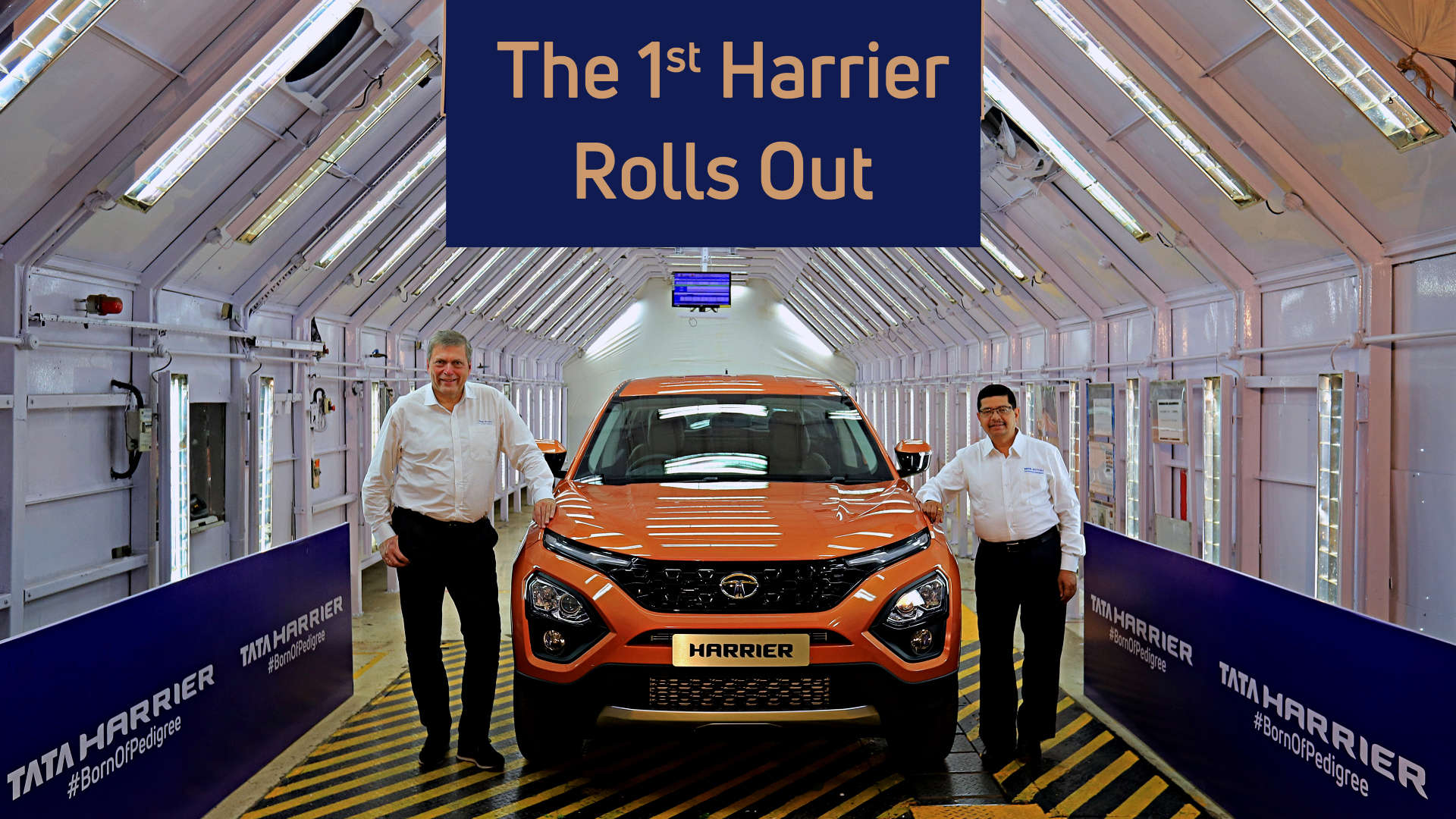 tata motors rolls out first harrier from pune, auto news, et auto