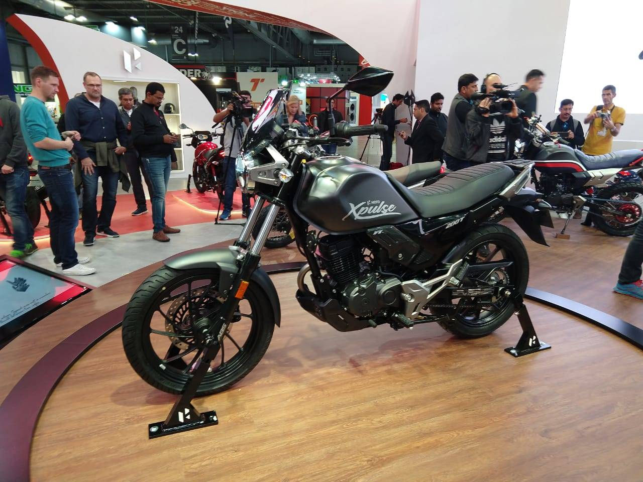 Hero MotoCorp also showcased four customised motorcycle concepts.