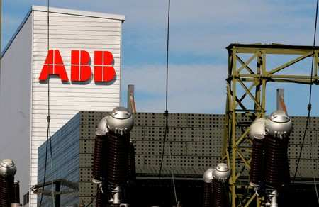 The Logo Of Swiss Engineering Group Abb Is Seen At A Plant In Zurich Switzerland
