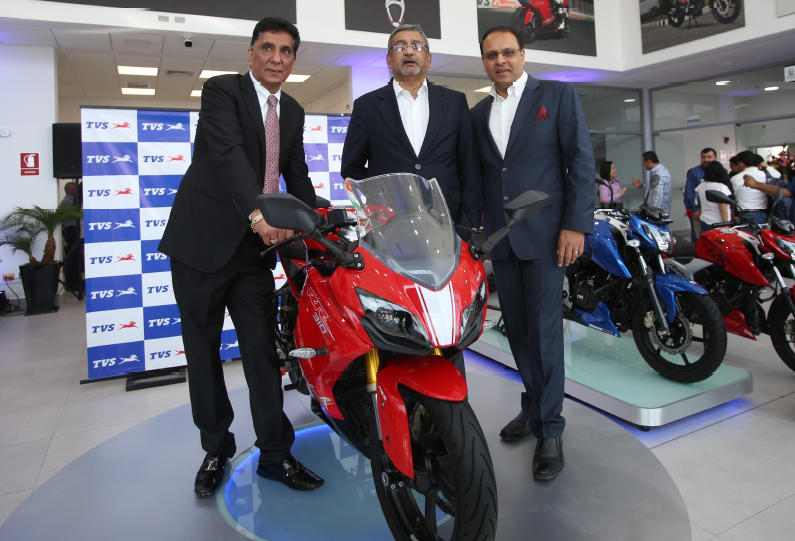 TVS Motor launches 3 new products, a showroom in Peru