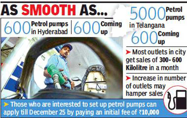 Number of fuel bunks in Hyderabad to double, dealers raise concern