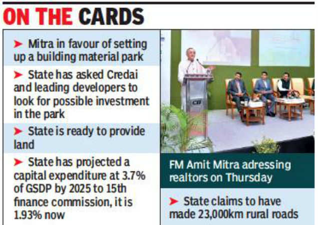 West Bengal FM asks realtors to invest in business park
