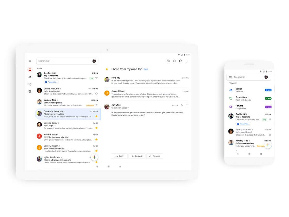 Gmail New Year New Look Google Releases Revamped Gmail Design For