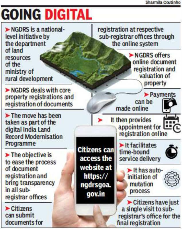 Goa: Visit sub-registrar just once to register land
