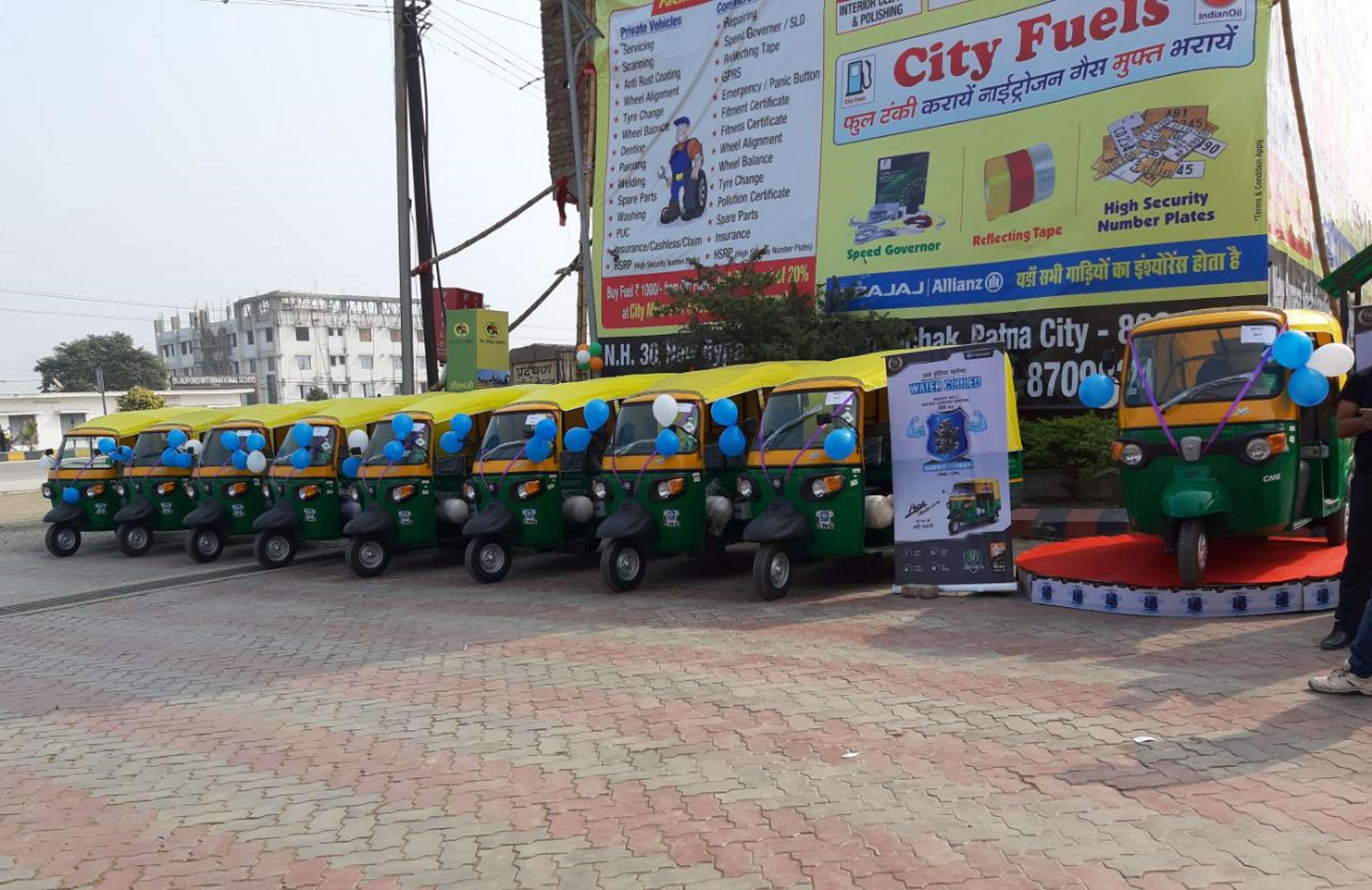 Piaggio's range of CNG Products for Patna market