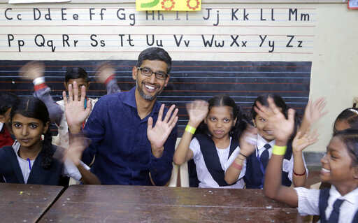Google CEO: On Women's day, Google CEO Sundar Pichai visits India