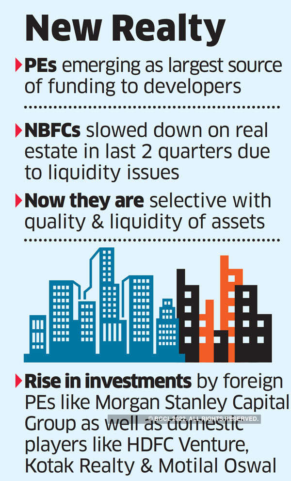 PEs enter realty space vacated by cash-starved NBFCs
