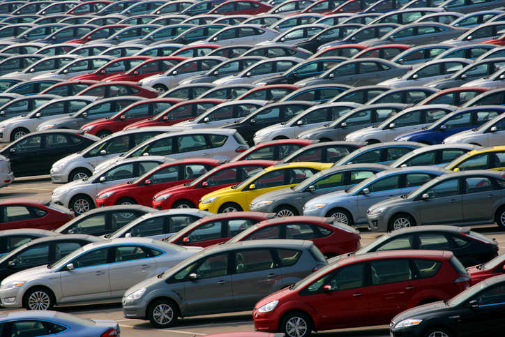 By volume, auto sales in March fell to 1.72 million from 1.79 million a year earlier.