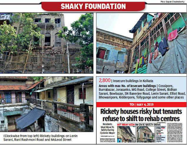 Kolkata civic body's plan to revamp unsafe buildings hit a bump as tenants refuse to move out