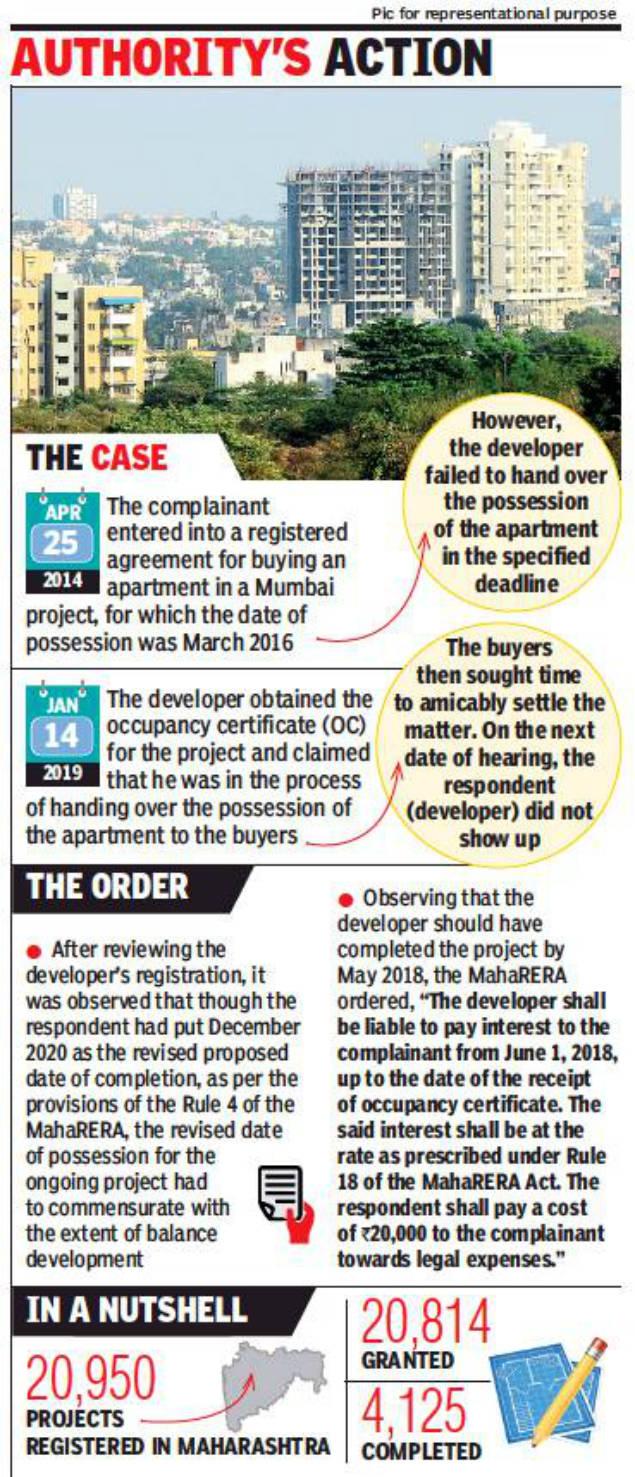 MahaRERA orders builders to set feasible deadlines