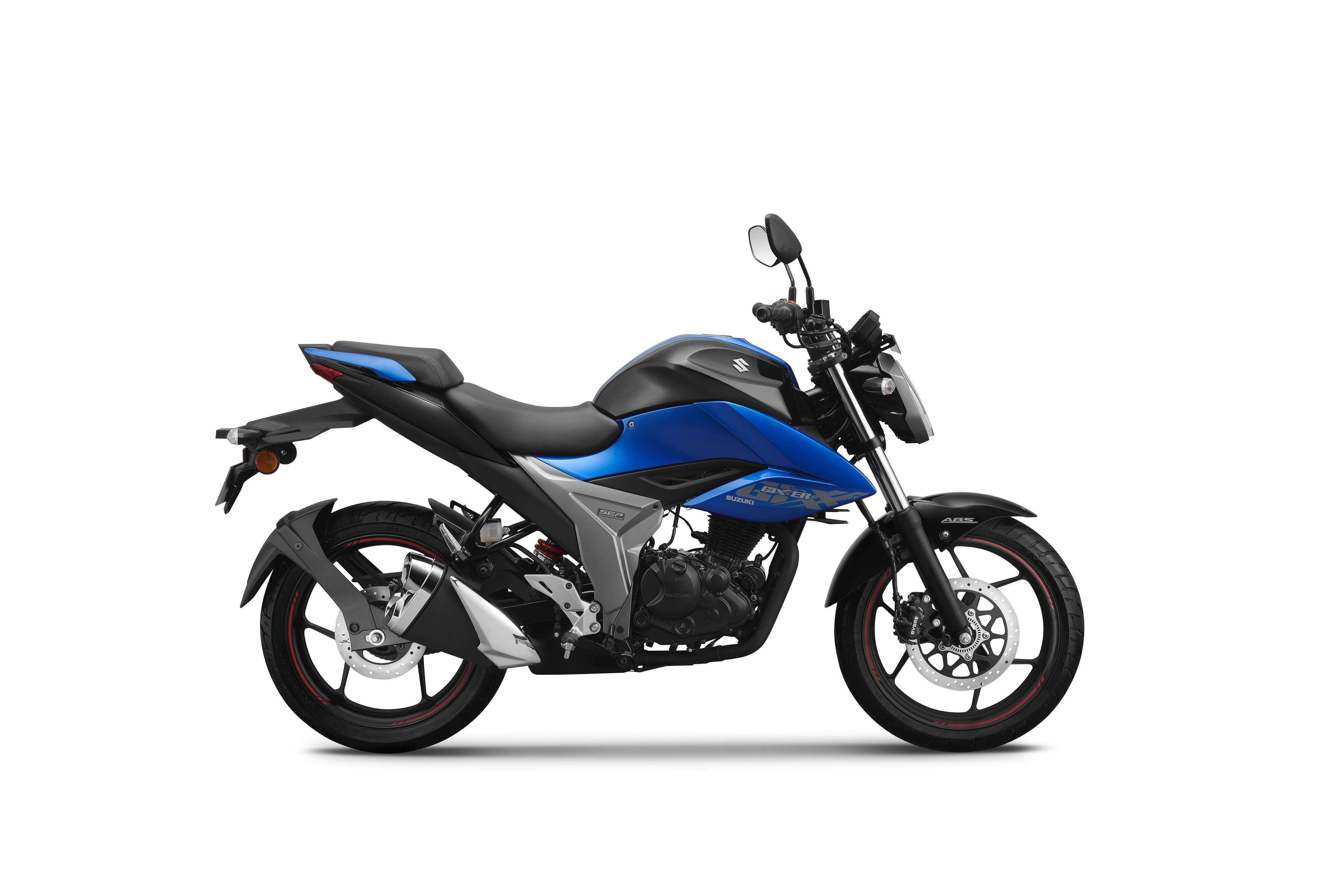 The new Suzuki Gixxer comes in three colour options – Metallic Sonic Silver & Glass Sparkle Black; Glass Sparkle Black and Metallic Triton Blue & Glass Sparkle Black.