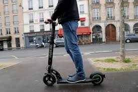 Paris imposes 135-euro ($150) fines for riding on the sidewalk on scooters.