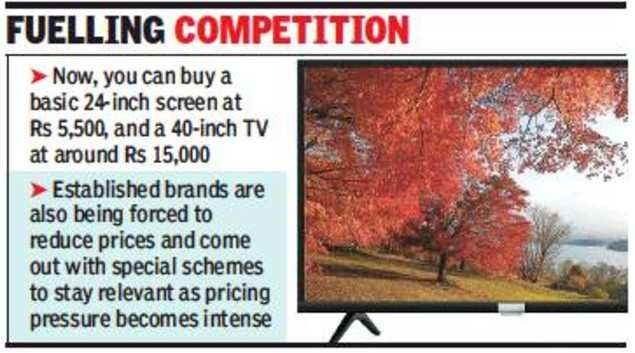 TV prices dip on entry of online-only brands