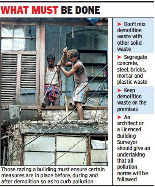 Kolkata civic body to amend building rules to curb pollution from debris