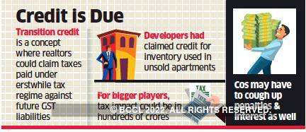 Tax department wants realtors to reverse transition credit