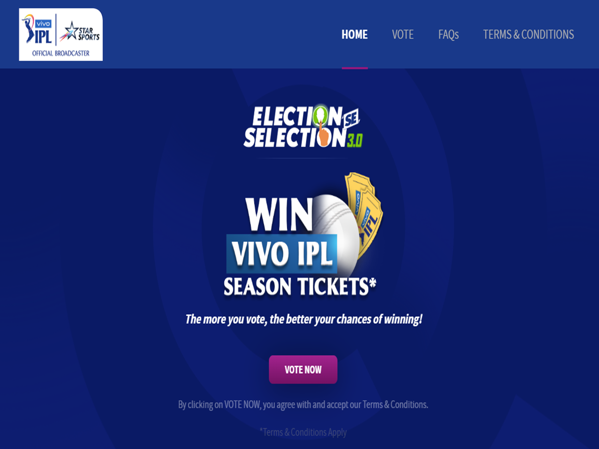 Sports Marketing Vivo Ipl 2020 Star Sports Launches Election Se Selection In A New Avatar Marketing Advertising News Et Brandequity