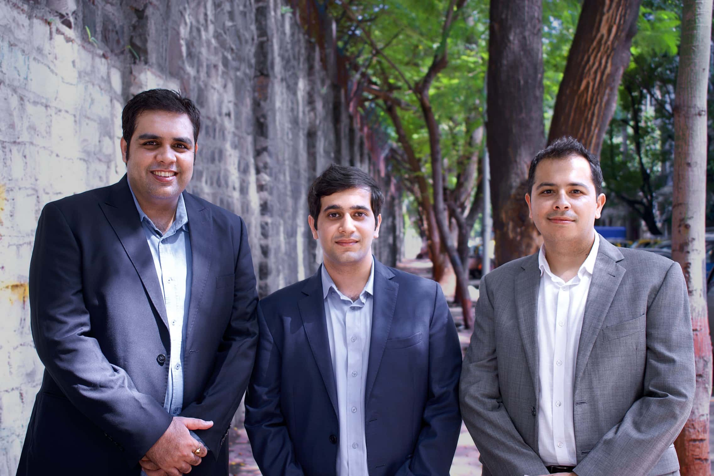 (L-R) Freightwalla co-founders Bharat Thanvi, Sanjay Bhatia and Punit Java