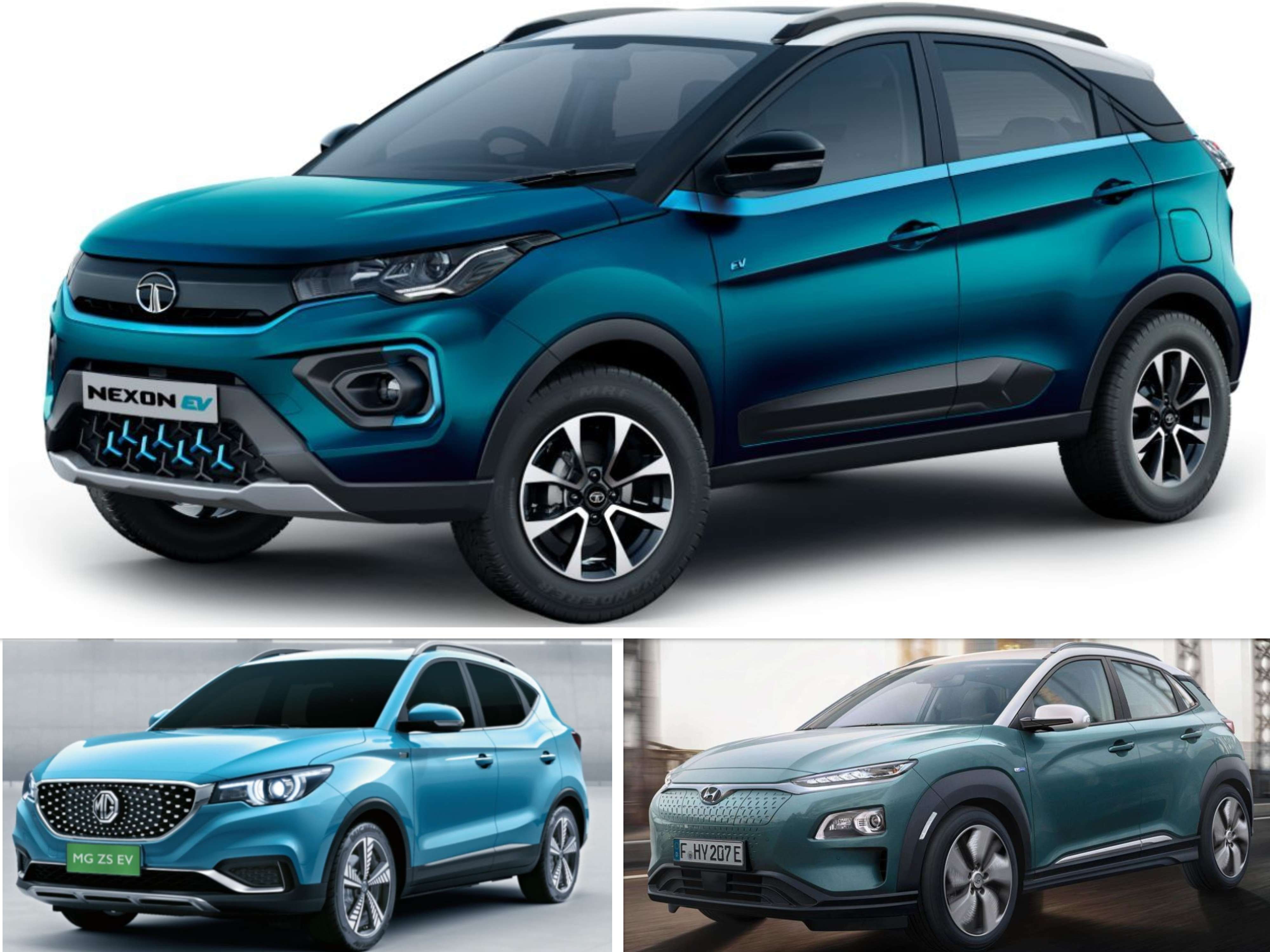 Tata Nexon Ev Tata Nexon Ev Vs Mg Zs Ev Vs Hyundai Kona Ev Specs Comparison Auto News Et Auto