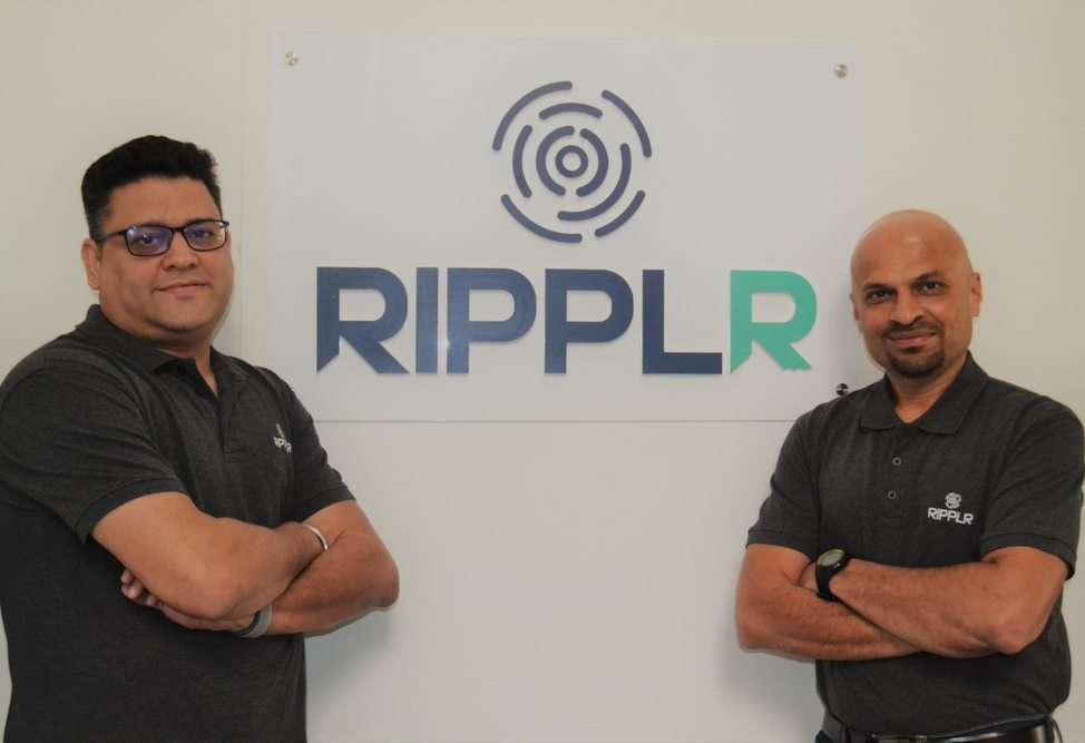 Ripplr Co-founders Abhishek Nehru (L) & Santosh Dabke (R)