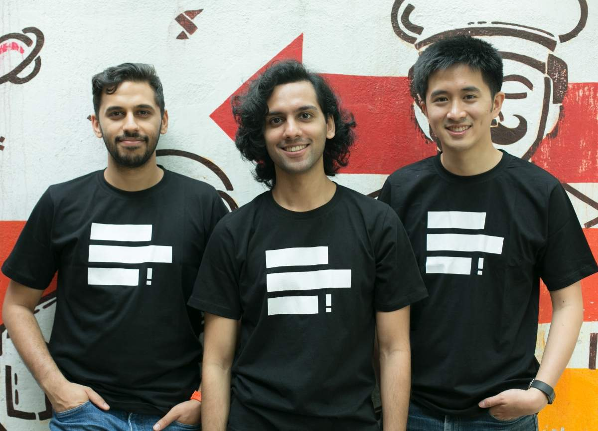 (L-R): HaikuJAM co-founders Neer Sharma, Dhrupad Karwa, Andy Leung