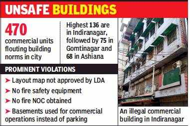 Lucknow: Every second commercial building in Indiranagar illegal