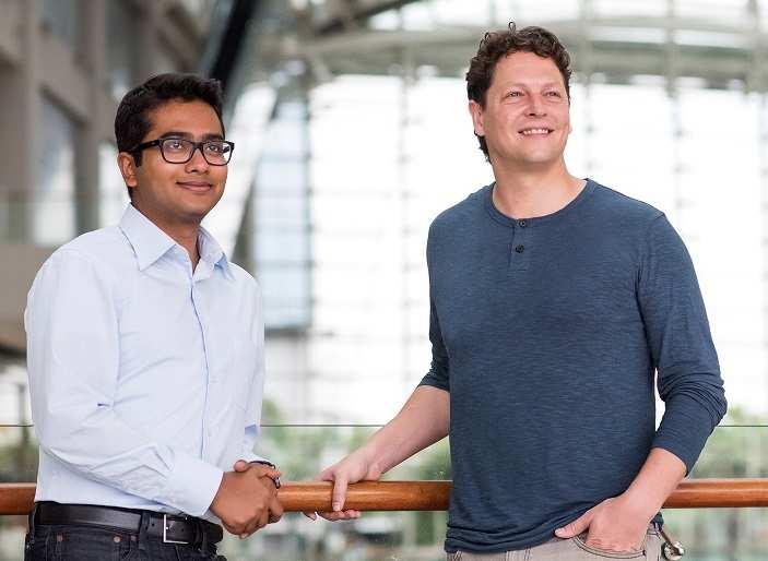 Arka Dhar (Left) Andrew Wolf (Right)